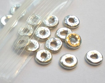 Fine Silver Hammered Disc Beads Karen Hill Tribe Beads 6mm or 8mm  (HT-277 or HT-277-A)