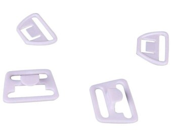 SALE White Nursing Clips - 18mm - 10 Sets (PM18W-10)