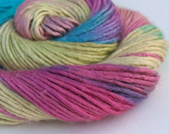 "Merino/Silk Worsted Weight Luxury Yarn - handpainted colorway ""His High & Mighty Prince Tiddly-Push"""