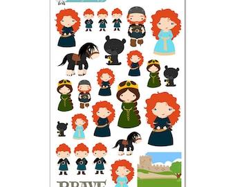 Brave (Merida) Stickers - Disney Planner Stickers