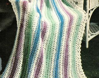 Afghan Crochet Pattern, Hairpin Lace Pattern, Crochet Afghan Pattern, PDF INSTANT Download Pattern (1036)