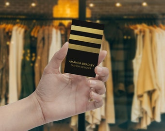 Silk Laminated Gold Foil Business Cards - Smooth Touch and Gold Foil Business Card Printing - FREE SHIPPING