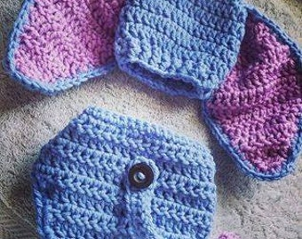 crochet winnie the pooh Eeyore baby outfit.