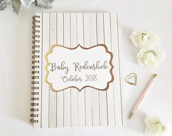Personalized Pregnancy journal, expecting mom gift, maternity gift, pregnancy keepsake and book