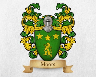 Moore Family Crest - Print