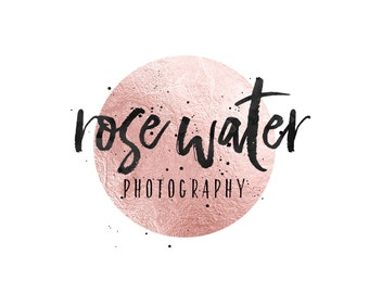 Rose Gold Logo / Photography Logo / Rose Gold Foil Logo / Modern Logo Design / Pink Makeup Artist Logo / Wedding Planner Logo / Jewelry Logo