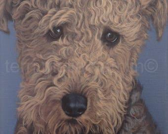 CustomDog Portrait, 9x12, Pet Portrait, Custom Pet Portrait, Painted Pet Portraits, Dog Portrait Custom, Acrylic Painted Portrait