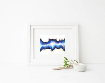 Blue Abstract Agate Wave | Wall Decor | Wall Art | Home Decor | Wall Hanging | Art | Art Prints | Prints | Nursery Gift | Gift For Him