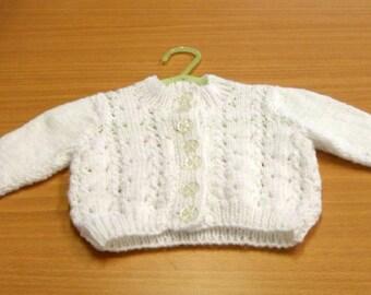 BABY CARDIGAN WHITE