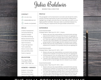Professional Resume Template For Word And For Mac Pages Creative CV Template  Instant Download Teacher Nurses
