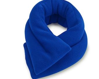 "Royal Blue Microwave Neck Heating Pad (5""x26""), Neck Shoulder Warm Wrap, Bean Bag, Moist Heat, Neck Pain Relief"