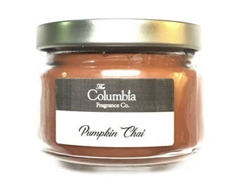 PUMPKIN CHAI candle, 8 oz, optional gift box