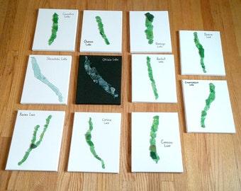 Finger Lakes Geschenk, Wohnkultur, Haus am See, Strand Leinwand Glaskunst, Geschenke für Paare, Hochzeitsgeschenk, Einweihungsgeschenk, Landhaus-Dekorationen