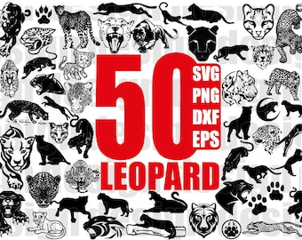 LEOPARD SVG, cheetah, jaguar, panther, leopard head, cheetah head, wildlife, cut file, silhouette, clipart, for cricut, for silhouette, png