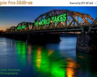 SALE 20% Off Trenton Makes Bridge Green Photograph Philadelphia Eagles Super Bowl Champions New Jersey Bucks County Pennsylvania Lower Trent