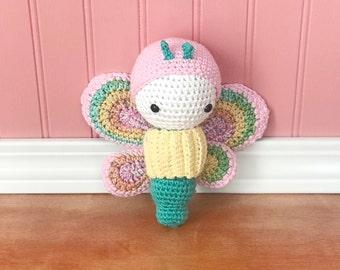 Butterfly, amigurumi butterfly, crochet butterfly, spring butterfly, ready to ship