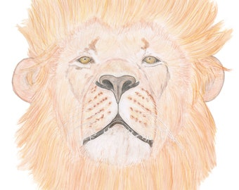 Lion Art Animal Art Fierce lion Strong Lion Confident Lion Big Cat Art Lion Head Male Lion