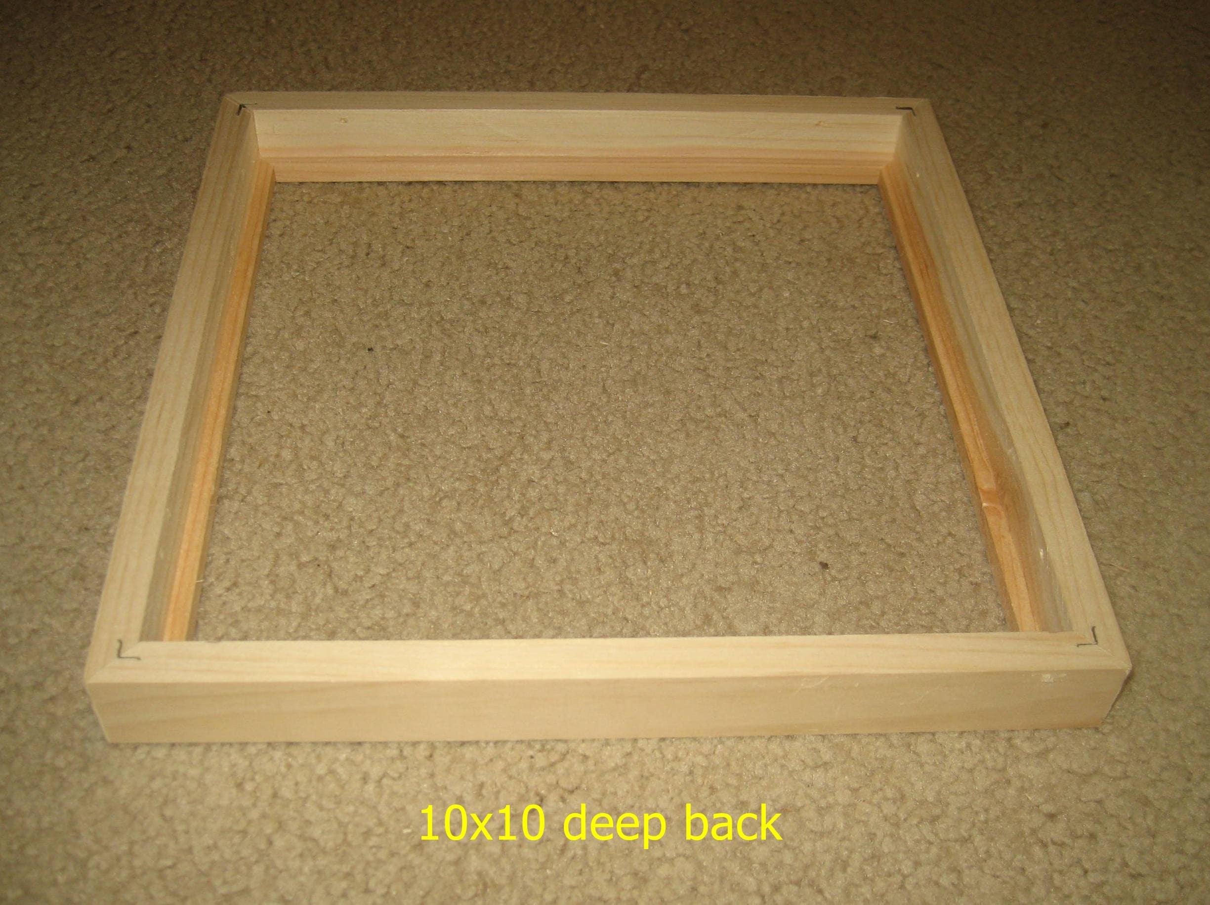 marco foto 10 x 10 con rebajes profundos para lienzos, madera sin ...