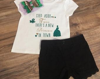 Girls disney step a side princess shirt/disney princess shirt