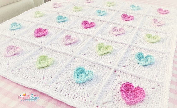 Crochet pattern all heart blanket crochet blanket pattern crochet pattern all heart blanket crochet blanket pattern baby hearts blanket crochet heart pattern granny square blanket pattern pdf no7a dt1010fo