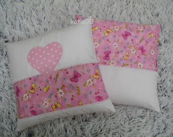 Pillowcase,2 PIECES ,handmade,hand crochet,home decor, designer,shabby chic,sewn,gift,paris,kitchen decoration