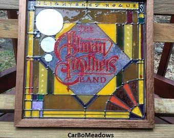 "Faux Stained Glass ""Enlightened Rogues"" album cover - Allman Brothers Band"
