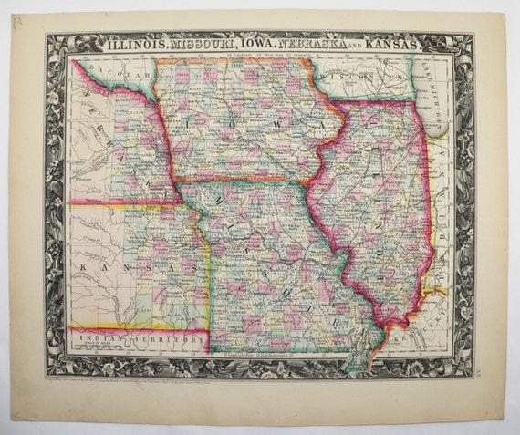 1860 illinois map missouri iowa map kansas nebraska map gumiabroncs Image collections