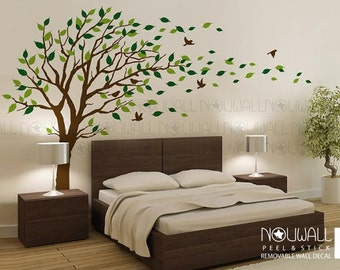 Incroyable Removable Windy Tree Wall Decal Living Room ,Bedroom Wall Decals Wall  Sticker Home Decor, Wallpaper