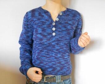 Short blue sweater wool blend.