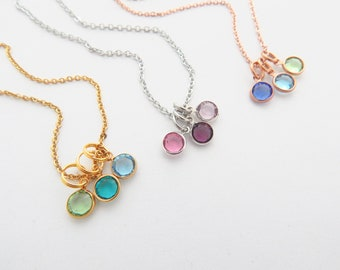 Birthstone Jewelry for Mom-Birthstone Necklace-Mothers Day Jewelry-Gifts for Mom from kids-Children's birthstones—Nana, Mimi, Gigi, Grandma