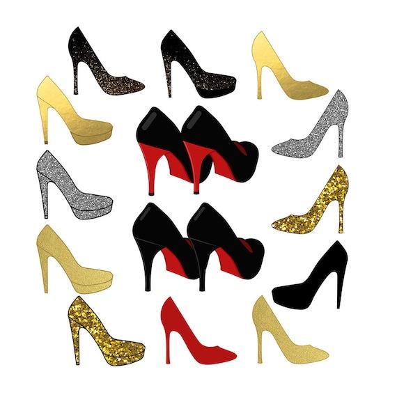 shoes clipart sparkle clipart high heel clipart wedding rh etsy com sparkle clip art black white sparkle clip art black white