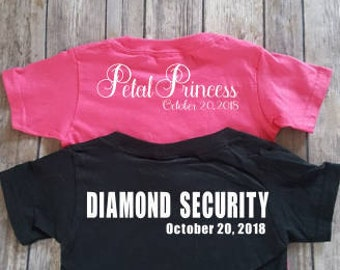 Diamond Security / Petal Princess - Personalized Flower Girl shirt and ring bearer shirts