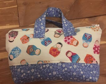 Russian Stacking Doll Essential Oils Bag handmade