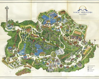 Magic Mountain Map (reproduced) photo 24 x 36 inch Poster Beautiful!