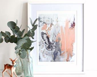 Jackal Buzzard - A3 Art Print