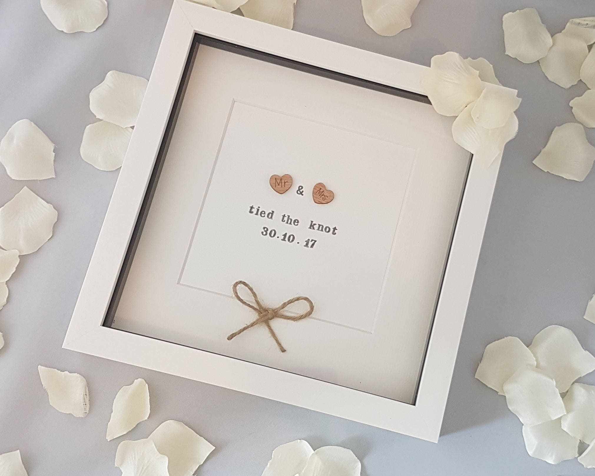 The Knot Wedding Gifts: Mr & Mrs Tied The Knot Wedding Gift Wedding Frame