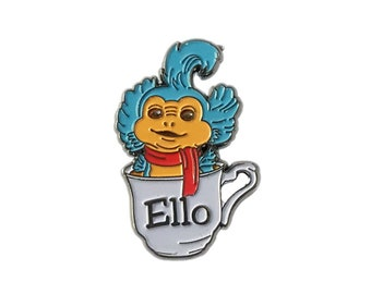 Ello - Labyrinth worm in a teacup enamel pinbadge