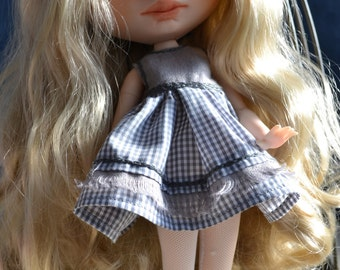 Reserved  Handmade cotton dress + jacket + cup  and boots for Blythe and Pullip outfit 4º payment of 4