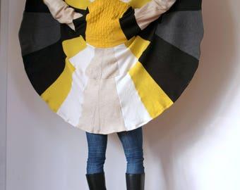 Pregnancy Coat Pure Wool Yellow Beige Sweater Woolen Oversize Cloak Soft Hooded Coolawoola Coat