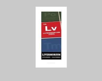 Livermorium print