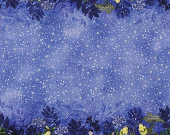 Flower Fairy Night Border Stripe Cicely Mary Barker 1 yard