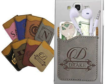Phone Caddy/Credit Card Holder/Cell Phone Wallet/Cell Phone Pocket/Student ID Holder/Phone Card Holder/Leather/Multi Colors