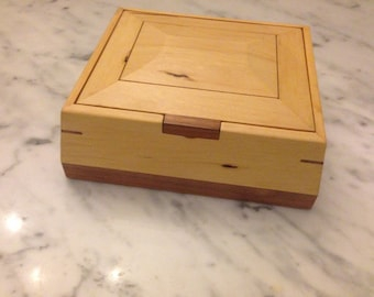 Contemporary Bevelled Timber Box - Huon Pine and Blackwood - Made To Order