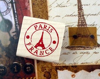 Paris Eiffel Tower Stamp (1.2 x 1.2in)