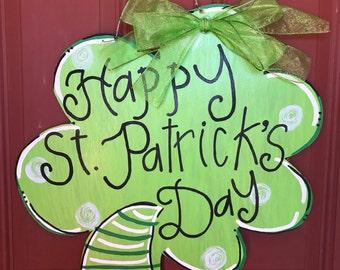 Shamrock Door Hanger, St Patricks Door Hanger, St Patricks Day Decor, Door Decorations, St Patricks Wreath