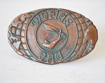 Vivienne Westwood badge, pin, brooch, Malcolm McLaren's shop, London , Chelsea, West end, 80s, Pun, vintage