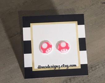 mario earrings/ 1up earrings/ super mario bros/ quirky earrings