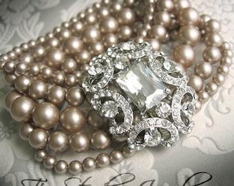 ANITA - Vintage Theme Pearl Bridal Bracelet