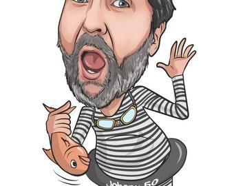 Caricature Custom Caricature Cartoon Custom Portrait