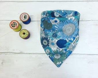 Baby dribble bib, Bandana bib, feeding bib handmade in Liberty Tana lawn 100% cotton fabric.Perfect for a baby shower gift.